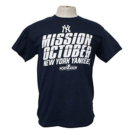 VF New York Yankees Mission October Postseason 2017 Men s Shirt (Navy Blue 375a628ae3d