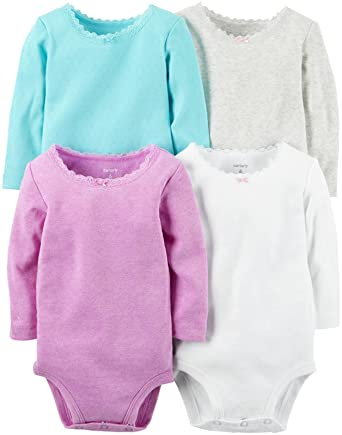 c39b00179481 Amazon.com  Carter s Baby Girls  Multi-pk Bodysuits 126g337  Clothing