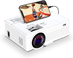 TOWOND Mini Portable Projector for Movies, Full HD 1080P Home Theater Projector with 6500Lux and 200 inch Display Supported, Compatible with Phone/PS5/TV Sticks/HDMI/Laptop/Xbox