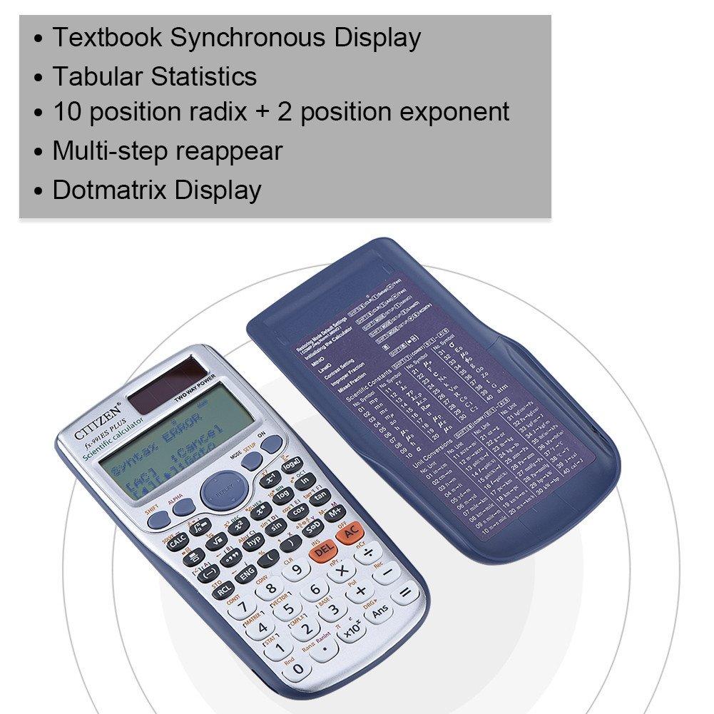 Fx-991Es Plus Calculadora cient/ífica con Todas Las Funciones Student Handheld Scientific Calculadora de funci/ón Completa Calculadora port/átil con 417 Funciones Acouto Calculadora