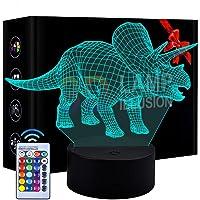 Luz de Noche de Dinosaurio LED 3D Patrón