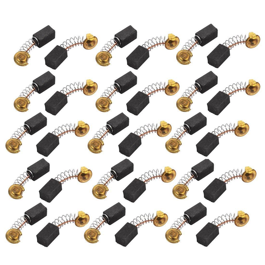 sourcingmap® 15 paires 6.5X7.5x12mm brosses à charbon Outil électrique pour moteur à percussion électrique sourcing map a16091000ux0218