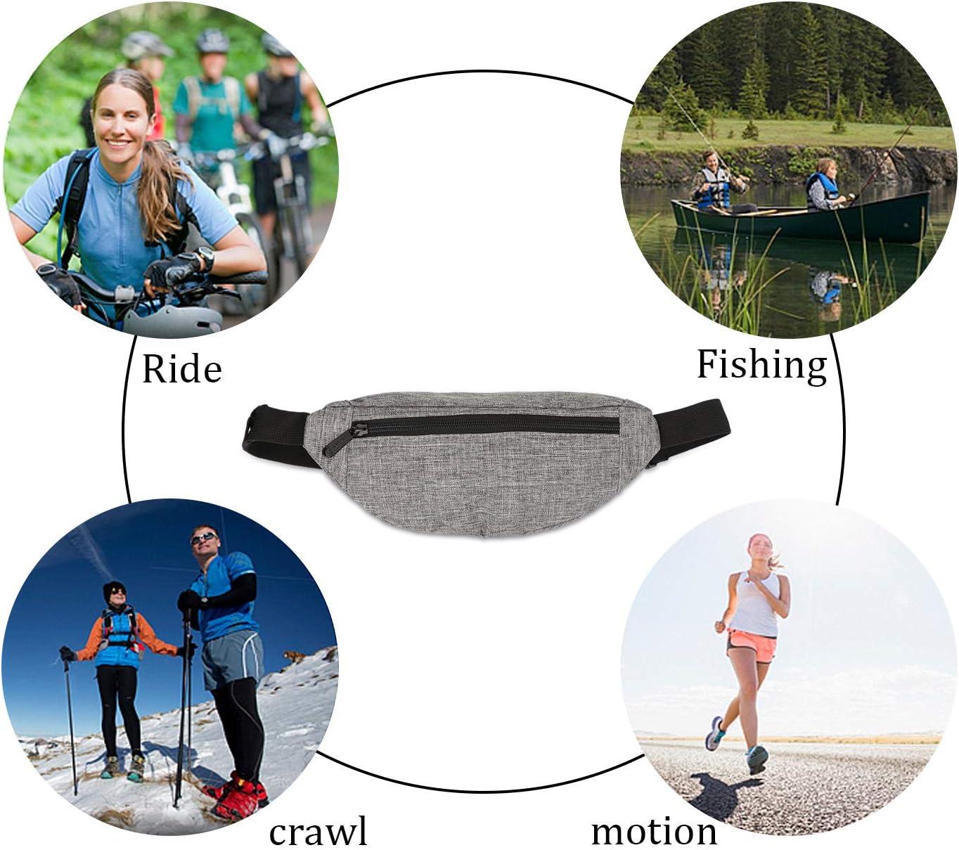 Aderenti Ciclismo Cintura Fitness Cintura da Corsa Impermeabile Tasche da Corsa Regolabili di Grande capacit/à Leggere e Impermeabili Sooair Marsupio Sportivo per allenamenti in Palestra