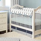 Carousel Designs Silver Gray Deer Head Crib Rail