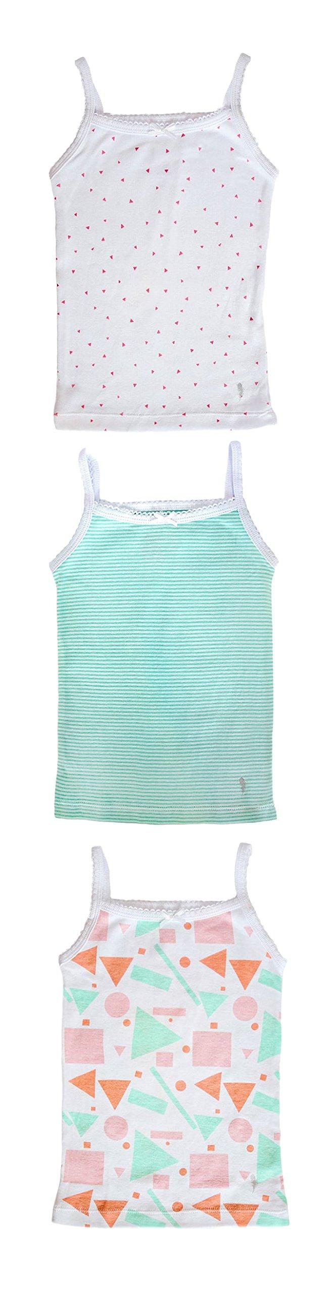 Feathers Girls Mod Print Set Tagless Cami Super Soft Undershirts (3/pack) Mod Print 6, Mod Print, 6