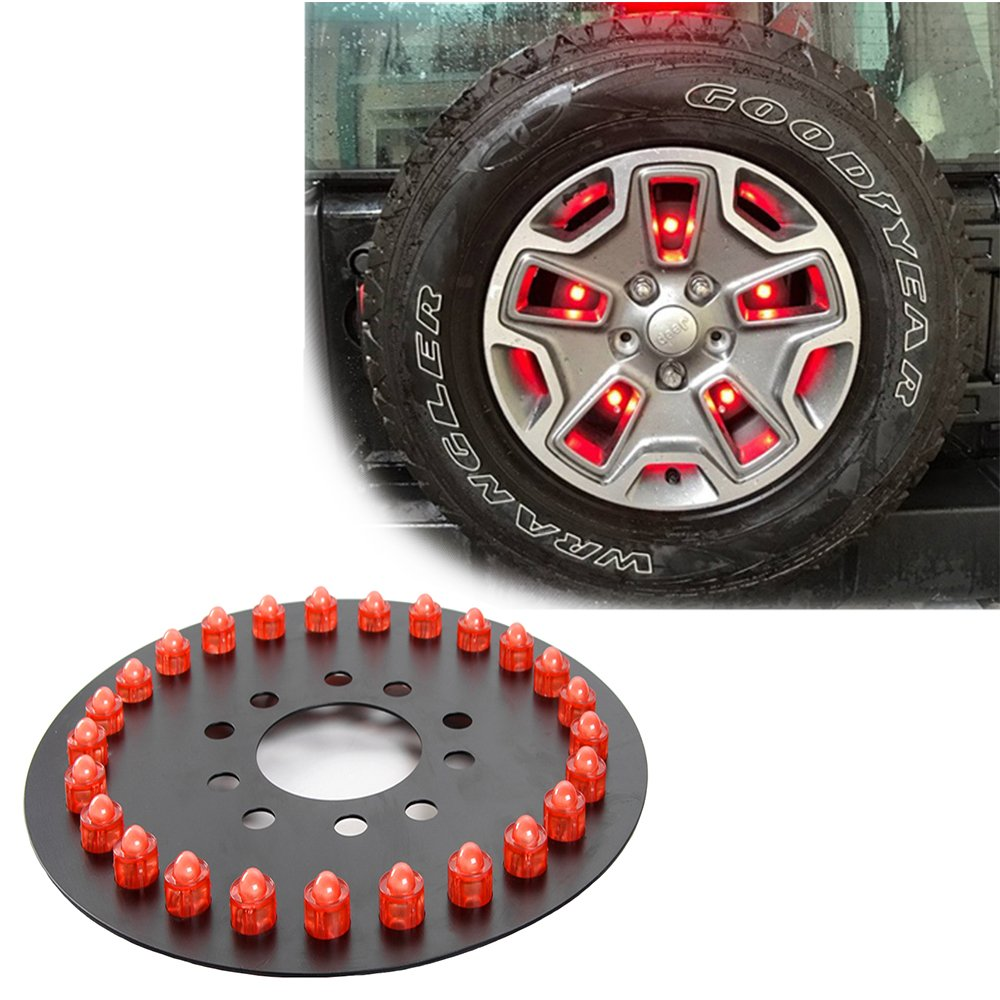 Drizzle Jeep 3rd Third Brake Light LED Spare Tire Wheel Rear Light for Jeep Wrangler JK TJ 1997-2016