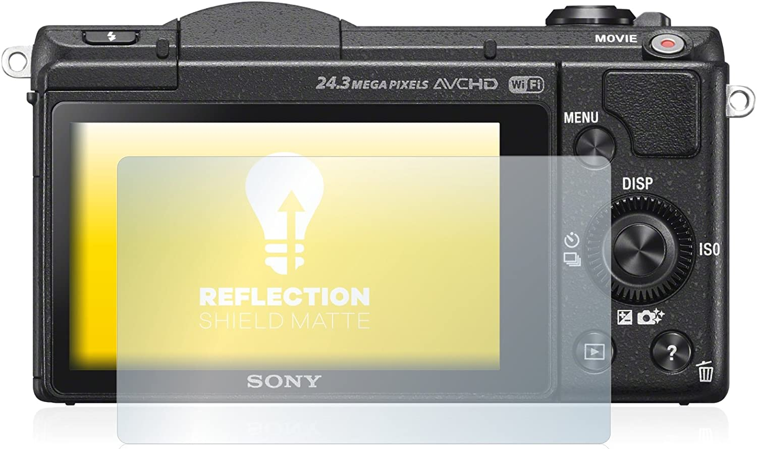 DSLR-A5100 Protection Film Matte upscreen Anti-Glare Screen Protector compatible with Sony Alpha 5100