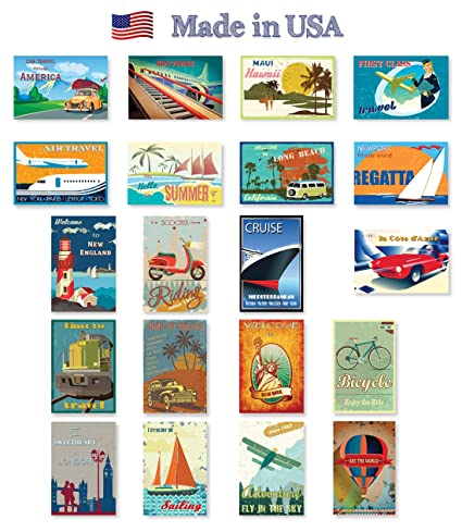 amazon com vintage travel posters postcard set of 20 post card