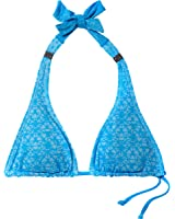 Oakley Pacific Coast Halter Bikini Top-Women's Pacific Blue