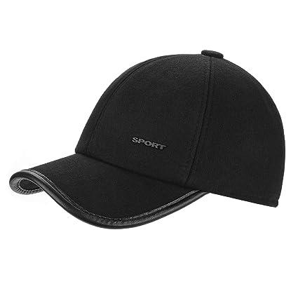 fe5249c3655 Amazon.com  TAGVO Winter Warm Peaked Baseball Cap