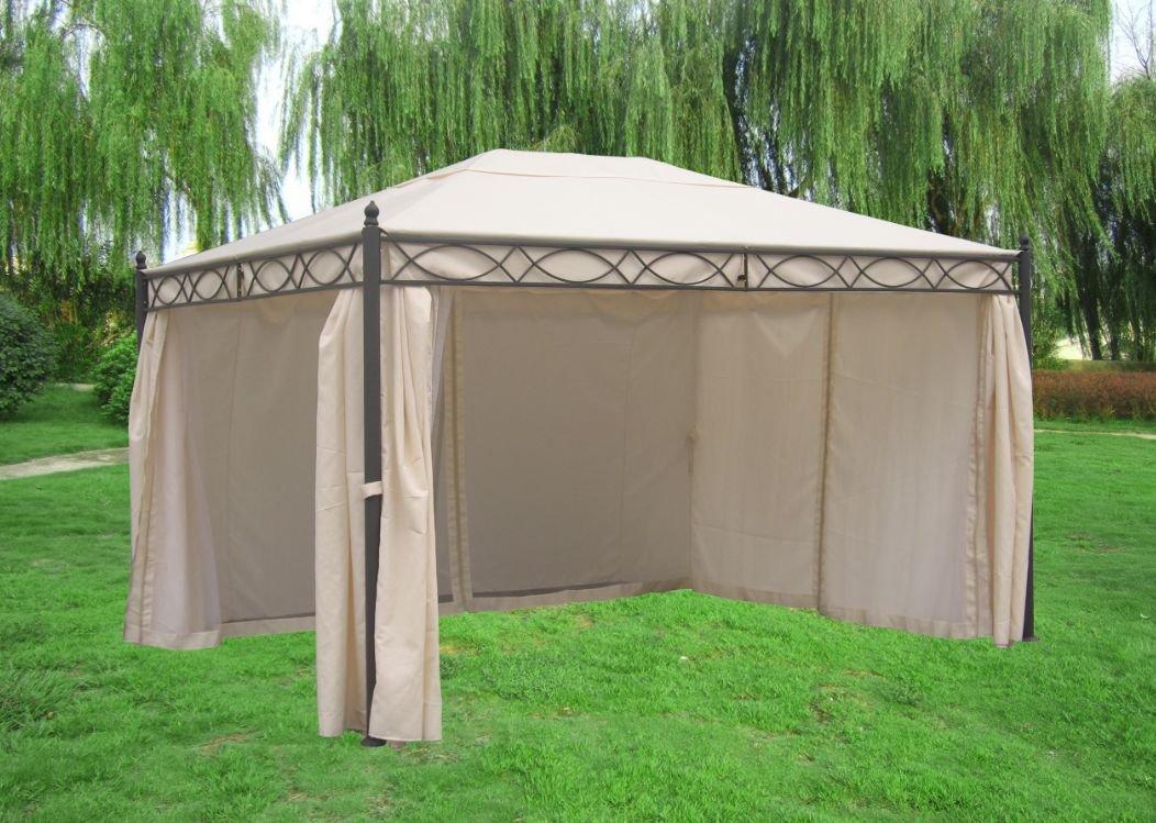 Pavillon Rivoli mit Seitenteilen 3x4 Meter, Dach und Seitenteile ecru