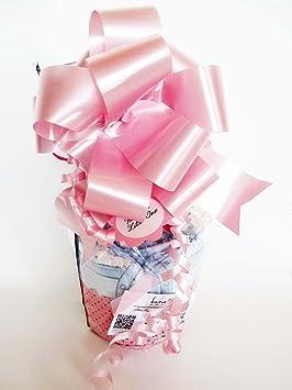 Maxi-Magdalena de Pañales + Chupete SUAVINEX | Baby Shower Gift Idea | Color Rosa, Para Niñas: Amazon.es: Bebé