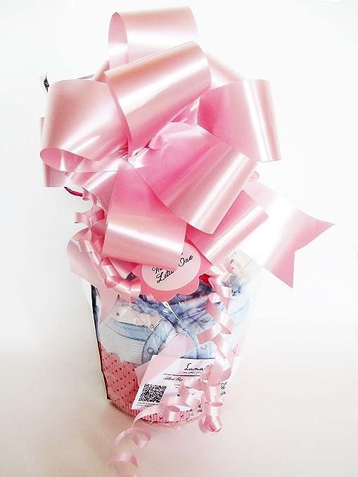 Maxi-Magdalena de Pañales + Chupete SUAVINEX | Baby Shower Gift Idea | Color Rosa