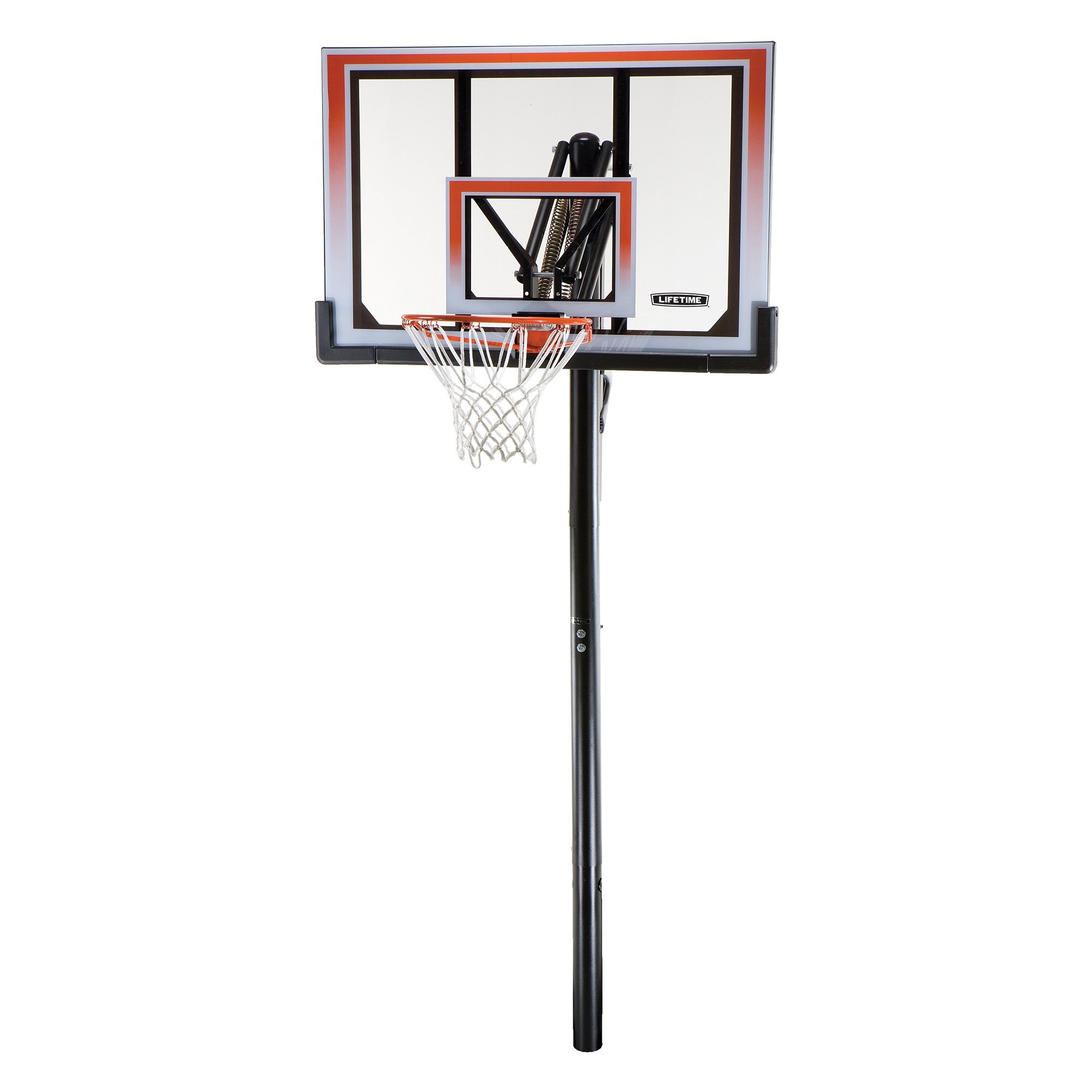 Lifetime 71799 Height Adjustable In Ground Basketball System, 50 Inch Shatterproof Backboard
