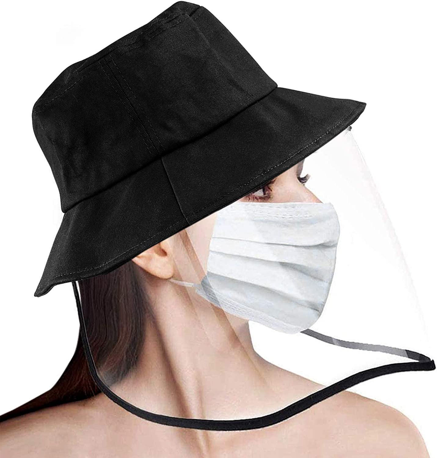 Fengxing Safety Hat with Face Shield Anti-Fog Dustproof Protection Face Eye Bucket Hat