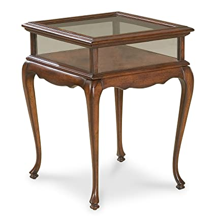 Tables   Chelmsford Curio Accent Table   End Table   Display Table   Cherry  Finish