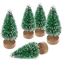 ILOVEDIY 10Stück Weihnachtsbaum Künstlich Klein Weihnachtsdeko 4.5cm 6.5cm 12.5cm