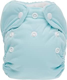 product image for Thirsties Newborn All in One Cloth Diaper, Snap Closure, Aqua