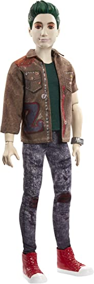 """Disney Zombies 2, Zed Necrodopolis Zombie Doll (~12inch) Wearing Zombie Grunge Outfit and Accessories, 11 Bendable """"Joints,"""""""