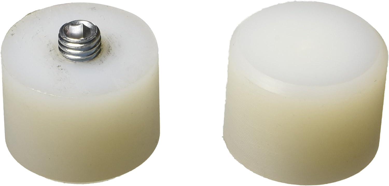 Jeu de deux embouts nylon pour maillet /à t/ête 35 mm
