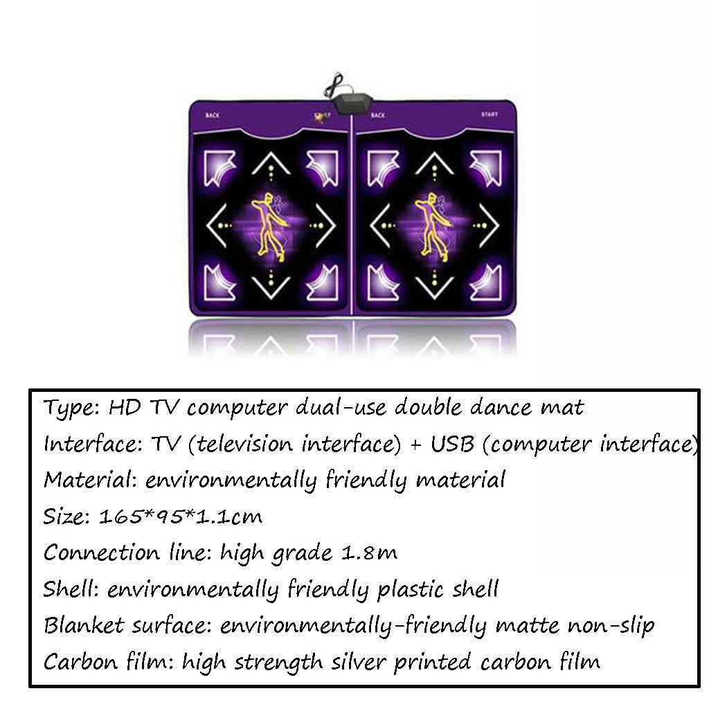 National style carpet Double Cool Sports Dance Machine TV USB Computer Dual-use Multi-function Weight Loss Dance Machine by National style carpet (Image #4)