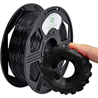 YOYI 3D Printer Filament,TPU Flexible Filament 1.75mm 0.8kg Spool Dimensional Accuracy +/- 0.03 mm,100% Europe Raw Material (Black)