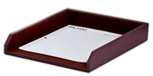 Dacasso Chocolate Brown Leather Letter Tray