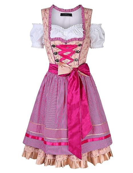 Amazon.com: EDTara - Vestido alemán para mujer, disfraz de ...