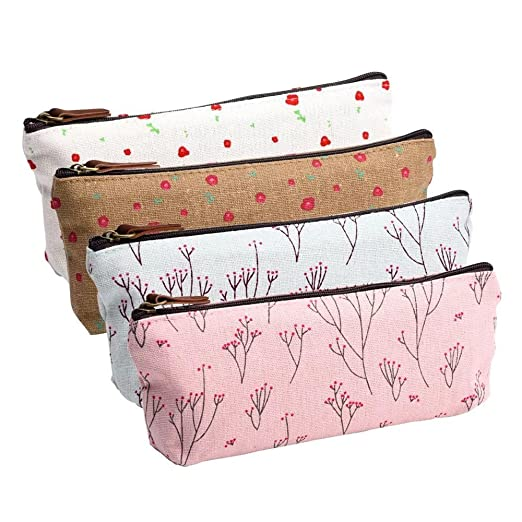 169 opinioni per Pilink Canvas Pen Pencil Case Stationery Pouch Bag Case Cosmetic Bags, Set of 4