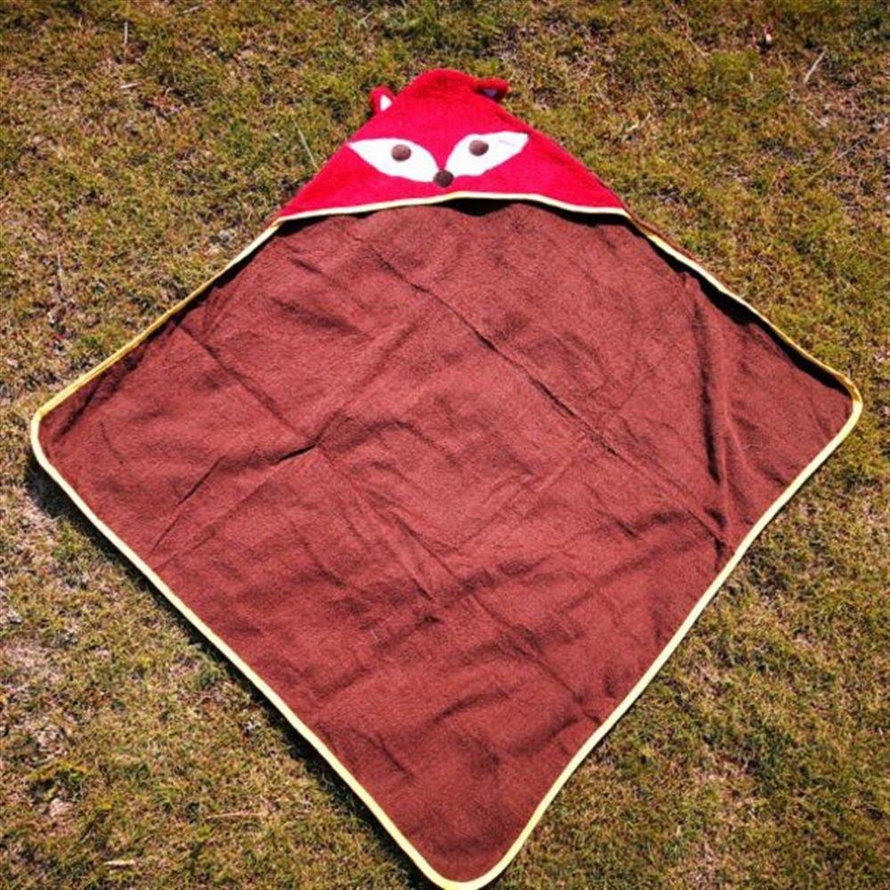 Yhcean Peignoir de Bain Enfants Renard Imprim/é Coton Serviette Capuche Peignoir Couverture Plage Serviette de Bain Cape Maillots de Bain V/êtement de Nuit