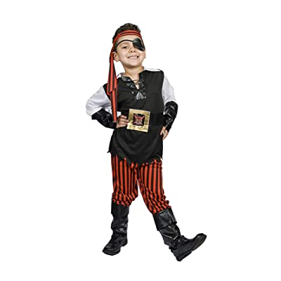 MONIKA FASHION WORLD Boys Pirate Costume Light UP Belt Child Kids Size M 5,6,7,8 Years Old, Ahoy Matey!: Toys & Games
