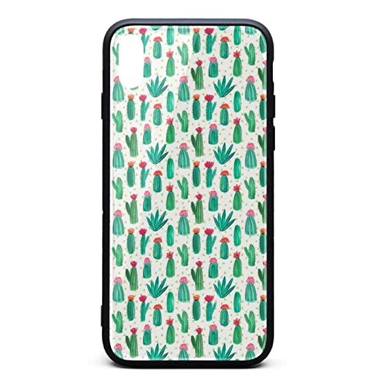 Amazon Com Cactus Wallpaper Phone Case For Iphone X Xstpu Gel Full