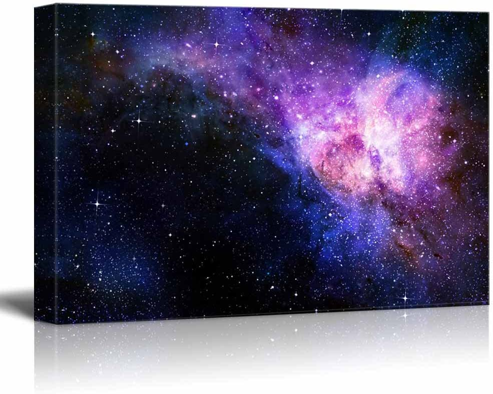 """Canvas Prints Wall Art - Starry Deep Outer Space Nebua and Galaxy Concept of Universe 