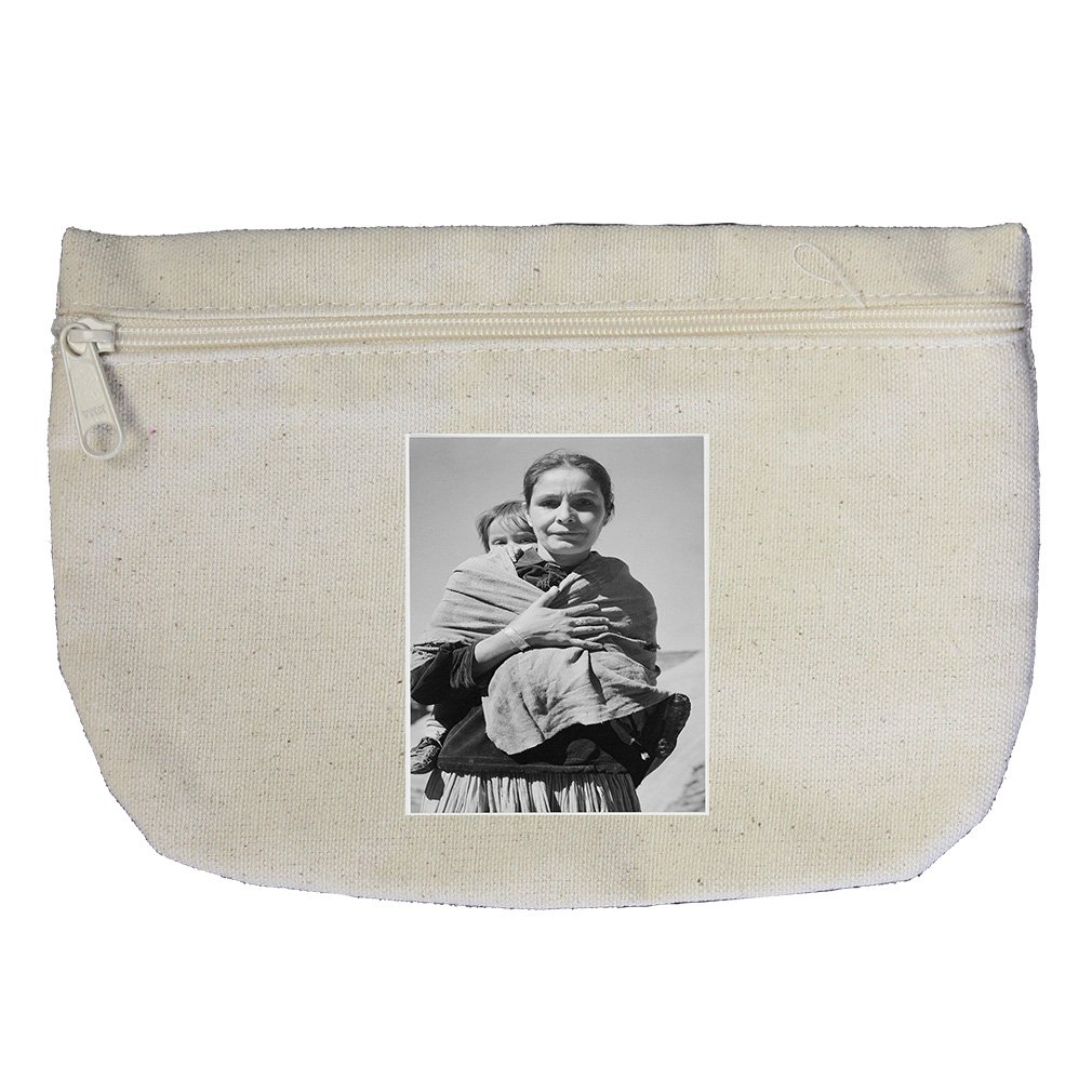 Dinee Woman Child Canyon Chelle (Adams) Canvas Makeup Bag Zippered Pouch