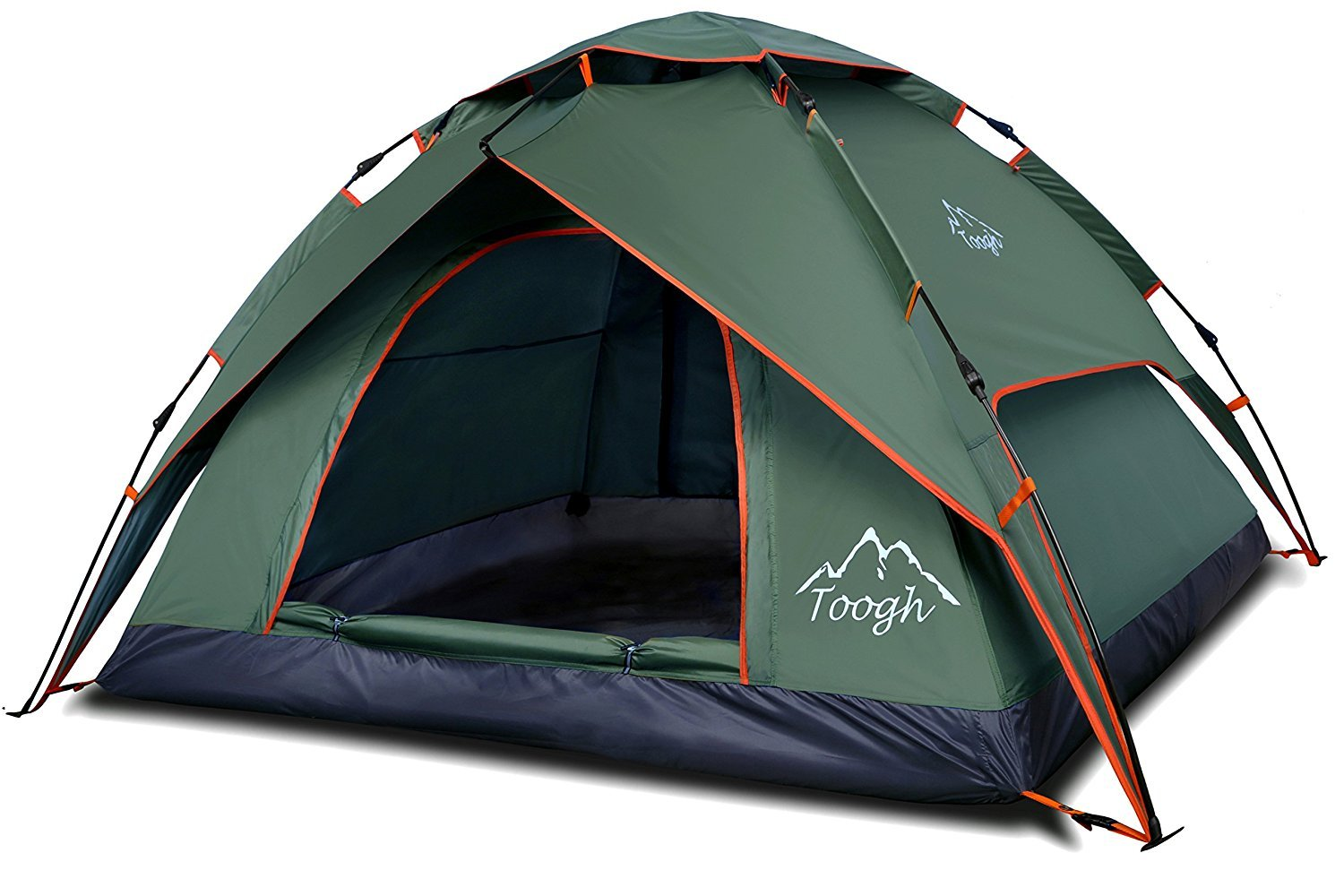 2 u0026 3 Person C&ing Tent - Toogh 3 Season Backpacking tent Sundome pop up Tents  sc 1 st  Amazon.com & Amazon.com : Coleman Bayside 8-Person Family Tent - Orange : Tent ...