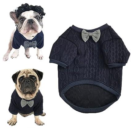 Meioro Suéter de Pajarita de Perro Ropa de Mascotas Chaqueta ...