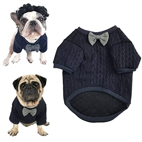 Meioro Suéter de Pajarita de Perro Ropa de Mascotas Chaqueta Perros Ropa Ropa de Mascota Linda