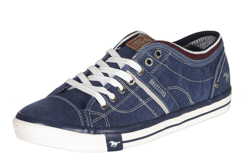 Mustang Herren Canvas Sneaker Blau: : Schuhe