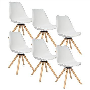 Woltu # 786 6 x Sillas de Comedor - Juego de 6 sillas de Comedor ...