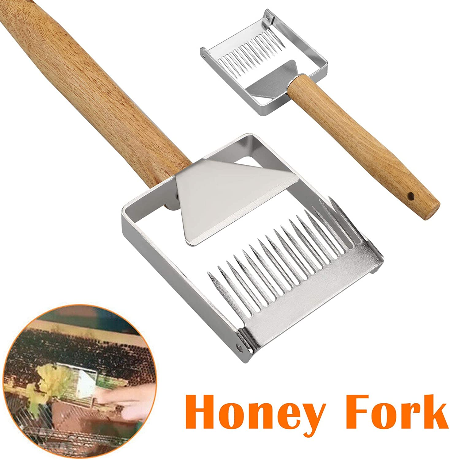 ships from USA extractor fork tool Bee Keeping Honeycomb uncapping fork