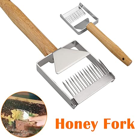 Honey Uncapping Fork Stainless Steel Beekeeping Tools for Beekeeper Silver