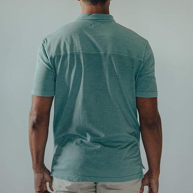 The Normal Brand Vintage Slub Pocket Polo Blue Surf