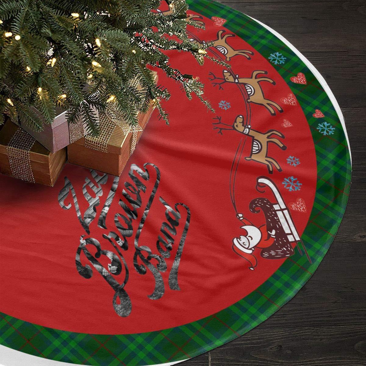 Amazon.com: DeclanI Zac Brown Band Christmas Tree Skirt - Xmas Tree ...