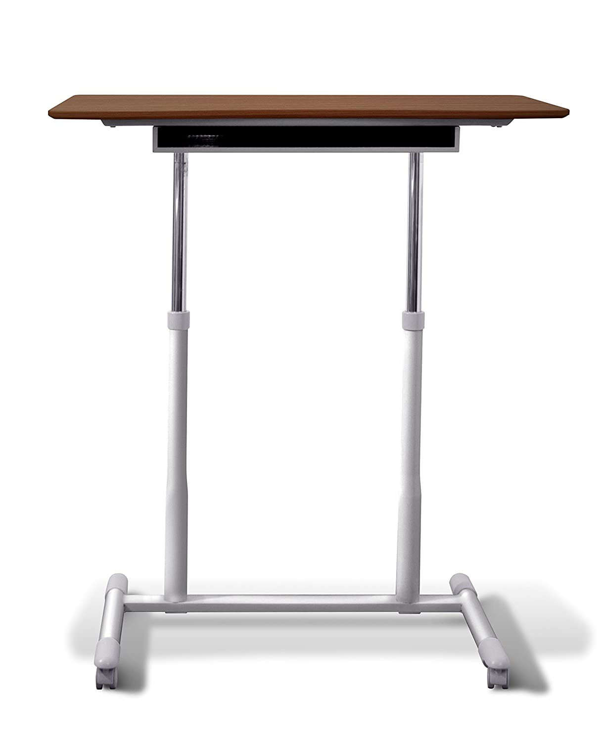Amazon.com: Unique Furniture 205 CH Height Adjustable Sit Stand Desk With  Cherry Top: Kitchen U0026 Dining