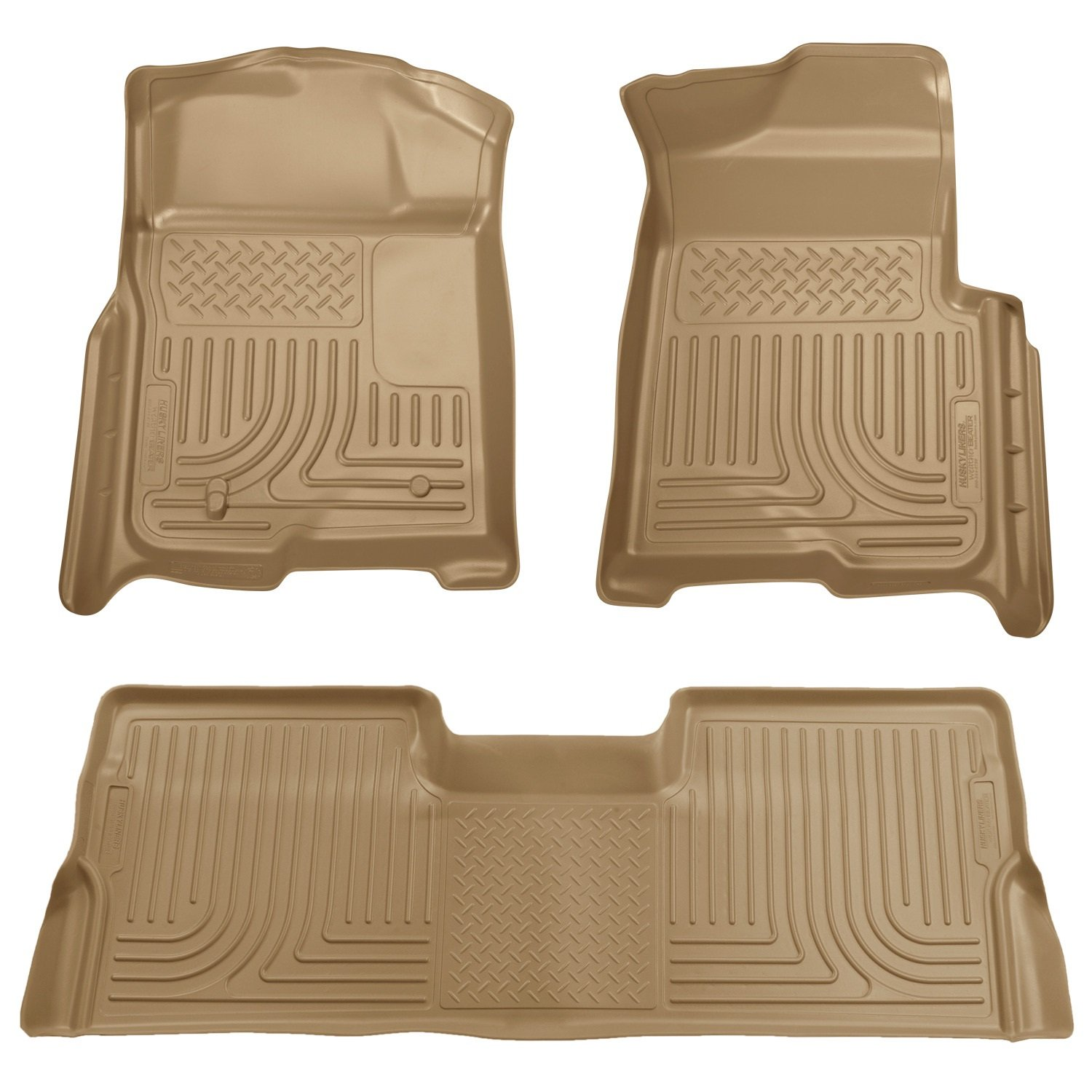 Husky Liners Front & 2nd Seat Floor Liners Fits 08-10 F250/F350/450 Crew Cab Winfield Consumer Products 98383
