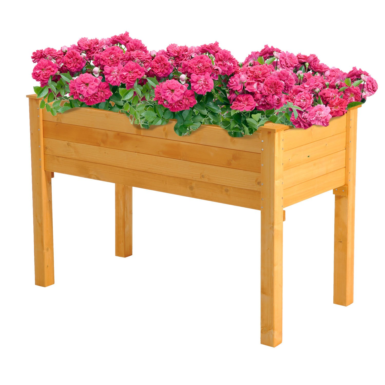 Generic O-8-O-4287-O ning Wo Kit Gardening Kit Gar Planter Flower ter Flo Rectangular Raised Garden getable Wooden Garden Bed Vegetable NV_1008004287-TYQFUS32 by Generic