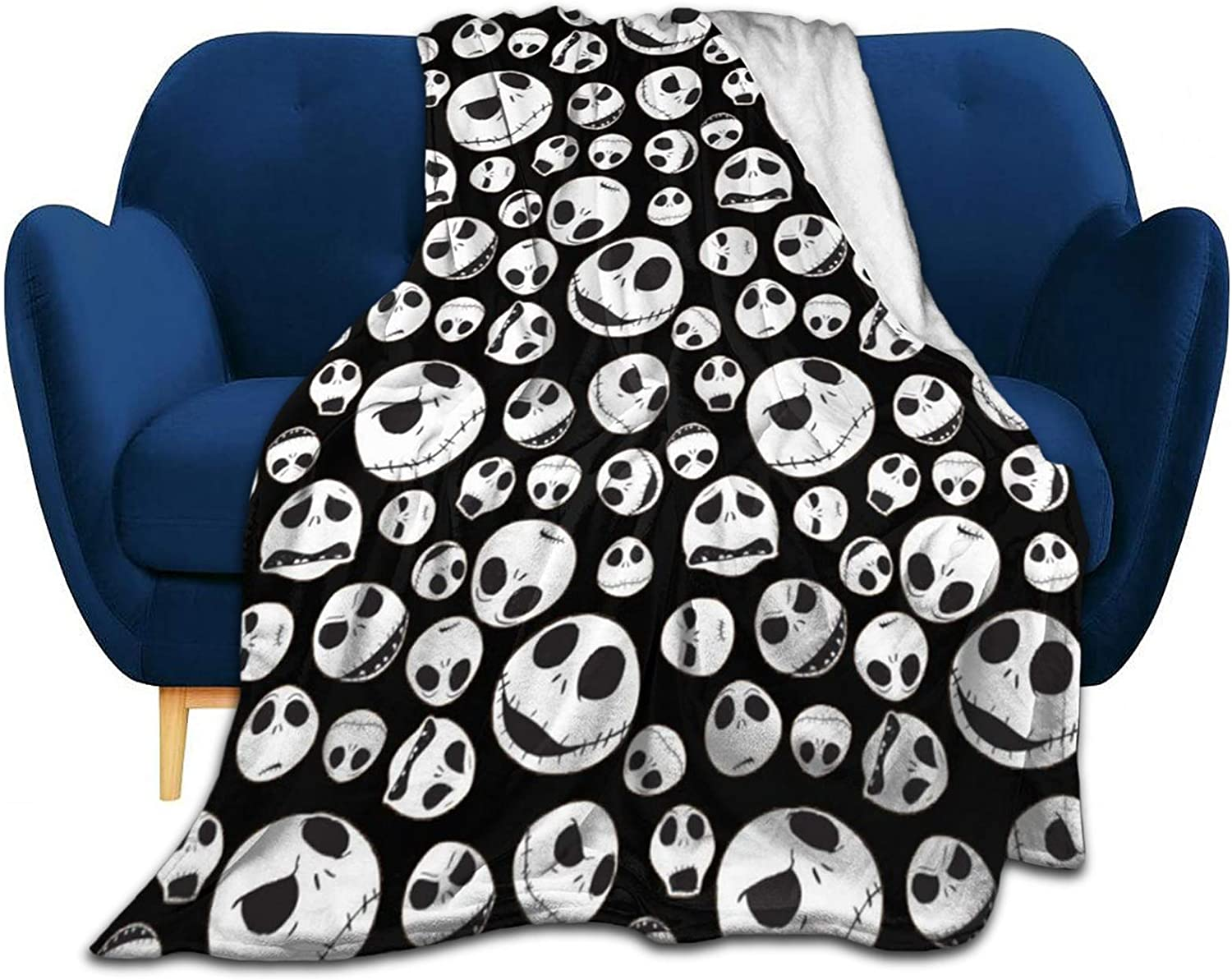 """Pantsing Nightmare Before Christmas Movie Blankets And Throws For Bed Soft Fleece Blankets For Home 50""""X40"""""""