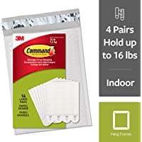 Command by 3M Picture Hanging Strips, White, 2 pairs hold 8 pounds, Create Wall Collages, 14 Pairs (28 Strips, Value Pack, Hangs 4-7 frames, eCommerce packaging (PH206-14NA)