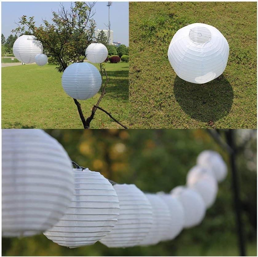 ilauke 12er wei/ße Papier Laterne Lampenschirm Lampion /Ø 15cm 6 in Kugel-Form Ballform f/ür Hochtzeit Kirche Garten Party Dekoration /Ø 15cm 6