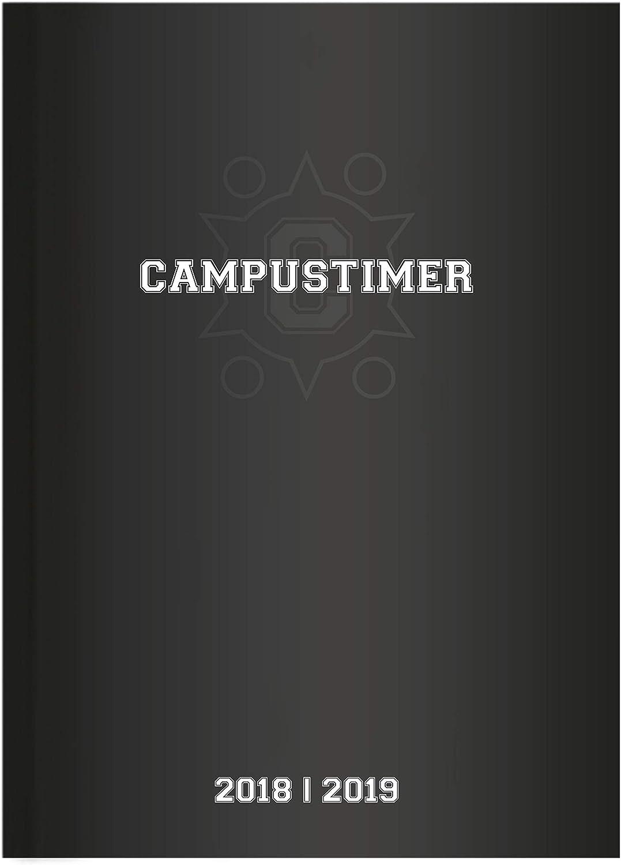"Agenda Settimanale Campustimer 2018/2019 ""Black"" 15X21 Cm"